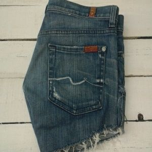 7 For All Mankind Roxanne jean shorts